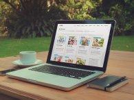 laptop, internet, strona www